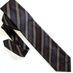 Shinawatra Diagonal Stripe 100% Silk Mens Neck Tie